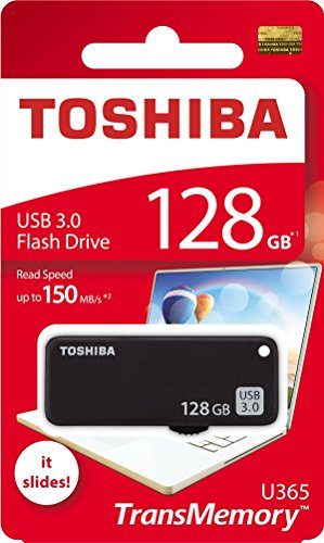 (Toshiba USB3.0 Flash Drive 128GB 128G USB 3.0 Flash Disk TransMemory U365 Read 150MB/s Slide (THN-U365K1280A4))