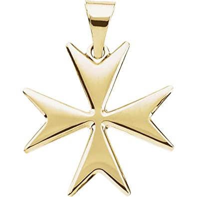 14ct yellow gold maltese cross pendant 18mm amazon jewellery 14ct yellow gold maltese cross pendant 18mm mozeypictures Choice Image