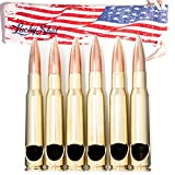 .50 Caliber Bottle Openers Set of 6 Made in the USA By Lucky Shot - Flag Bag included