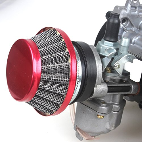 49CC 2-Stroke Engine + Handle Bar+ Throttle Cable +Air Filter Motor Pocket Mini Bike Scooter ATV 6T T8F Chain 44MM Bore by Wingsmoto (Image #7)