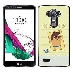 LECELL--Funda protectora / Cubierta / Piel For LG G4 -- Sun Beach Tan Mar Fresco --