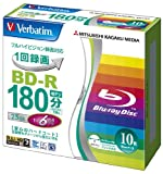 Verbatim 25GB 6x Speed BD-R Blu-ray Recordable Disk 10 Pack in Jewel Cases Ink-jet printable