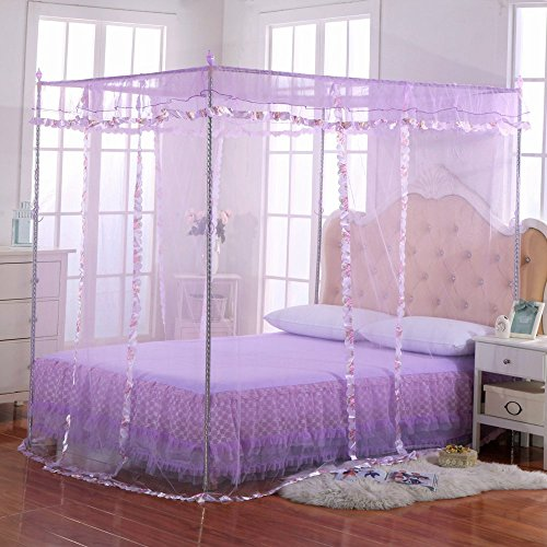 Luxury mosquito net bed canopy by jqwupup 4 corner poster - Canopy bed ideas for adults ...