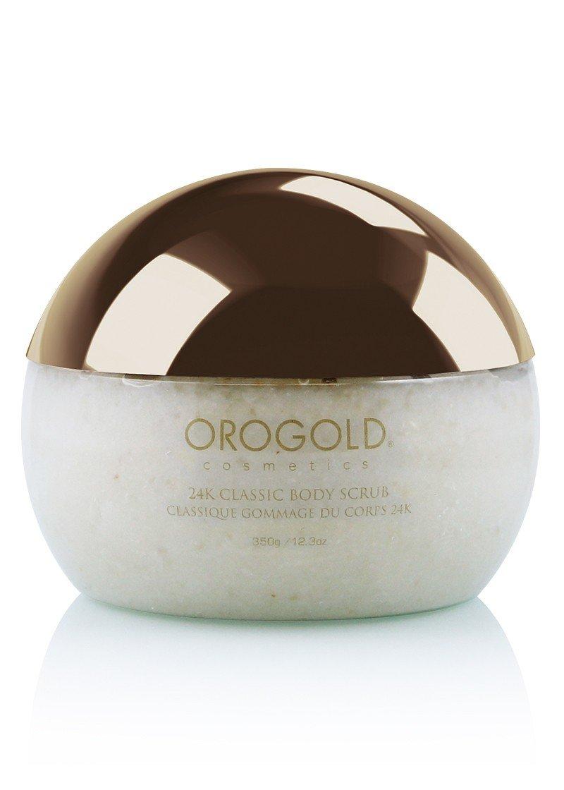 White Gold 24K Classic Body Scrub Exfoliator from OROGOLD Cosmetics, 275 g., 9.7 oz.