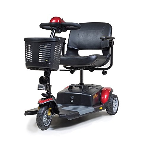 Golden Technologies Buzzaround XLS HD 3-Wheel Travel Mobility Scooter, Red