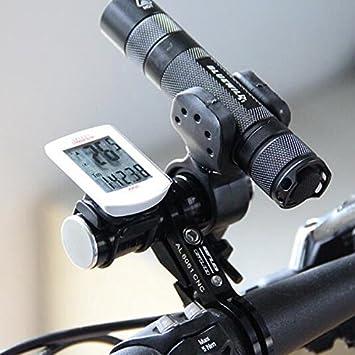 Bike Flashlight Holder Handle Bar Bicycle Accessories Extender Carbon Tube Frame