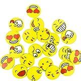 A Little Lemon Mini Metal Smiley Smile Face Button Pins,1.2 Inch Size - 80 Pack