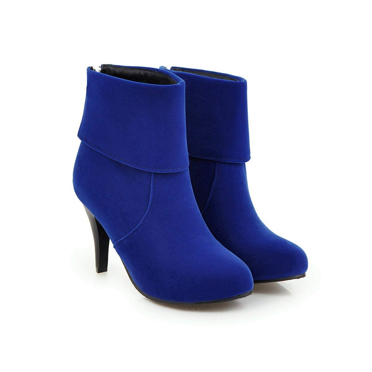 Damen Runde Toe Stiletto High Heels Kurze Stiefeletten