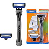 Razors for Men, Fairywill Men's Razor, 4 Blade Razor System, Zinc Alloy Handle, 1 Extra Razor Refill