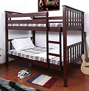 Milton Greens Stars Pineville Wooden Bunk Bed, Twin, Cherry