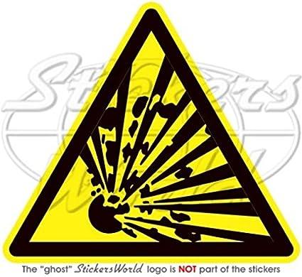 Explosive Warnung Sicherheit Zeichen Explosion Gefahr 10 2 Cm 100 Mm Vinyl Aufkleber Aufkleber Garten