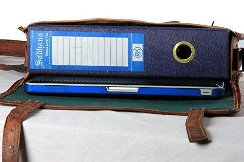 Honey Leather Exporters Herren-Ledertasche, Echtleder, Messenger-Taschen, Laptop-/Aktentasche