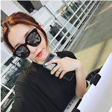 Miopía Sol Box Gafas Negra Plata Mujer Sol Vviiyj De Redondas Black Big caja Silver qa06Wwf