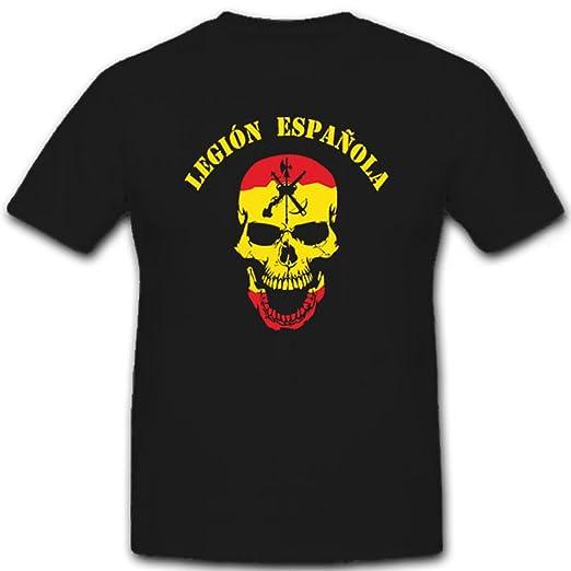 Legión Española España Legion Calavera Cráneo Logo Escudo España - guerrero Camiseta # 6617: Amazon.es: Ropa y accesorios