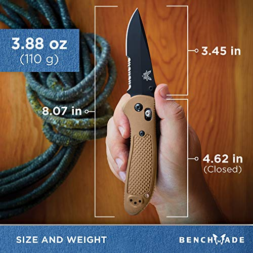 Benchmade 551SBKSN-S30V Griptilian Sand Tan Drop Point Black Serrated by Benchmade (Image #8)