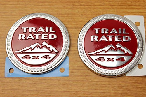 Jeep Cherokee Trail Hawk Trail Rated Emblem Badge Set of Both Sides OEM