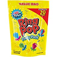 Ring Pop Individually Wrapped Variety Back to School Party Pack – 20 Count Candy Lollipop Suckers w/ Assorted Flavors