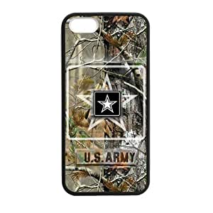 Canting_Good US Army Real tree Custom Case Shell Cover for iPhone 5 5S TPU (Laser Technology)