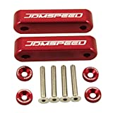 "JDMSPEED Anodized Red JDMSPEED Hood Spacer Hood Riser 3/4"" for Honda Civic CRX Del Sol Acura Integra"