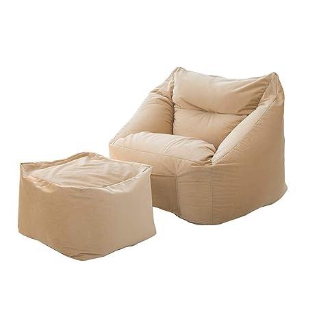 Amazon.com: Lazy - Puf con reposapiés, muebles rellenos de ...