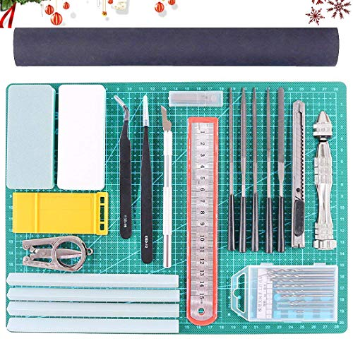 - Rustark 27Pcs Gundam Modeler Basic Tools Craft Set Hobby Building Tools Kit for Professional Model Assemble Building
