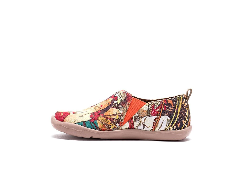 UIN Fille monacane Chaussures sportives de toiles peintes multicolore pour femme (40) xjOG5