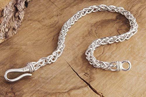 (Wheat Chain Bracelet, Silver Chain Bracelet, Solid Silver Chain, 925 Sterling Silver Bracelet, Men's Silver Bracelet Gift, Spiga Chain/code: 0.011)