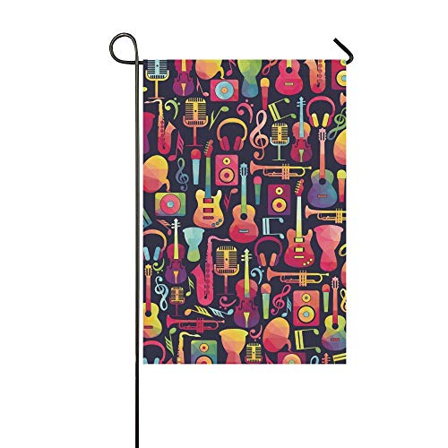 WUTMVING Home Decorative Outdoor Double Sided Music Garden Flag,House Yard Flag,Garden Yard Decorations,Seasonal Welcome Outdoor Flag 12 X 18 Inch Spring Summer Gift