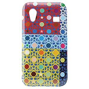 Star and Dot Pattern Hard Case for Samsung Galaxy Ace S5830