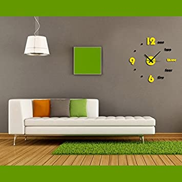 Time It Designer Self Adhesive Innovative DIY Do Yourself Analog Wall Clock
