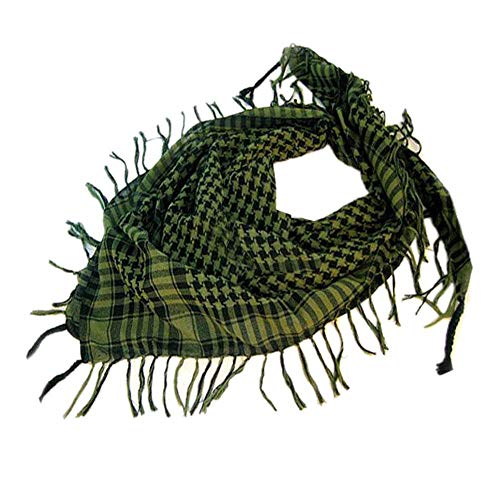 CHIDY Scarves 1PC Unisex Fashion Women Men Arab Shemagh Keffiyeh Palestine Scarf Shawl Wrap GN(Green)