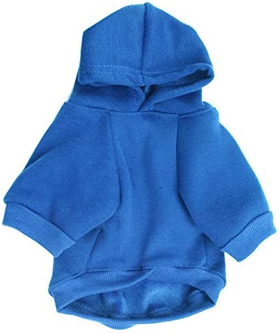 XS, Blue2 ZoonPark/® Dog Clothes Soft Fashion Fleece Dog Hoodie Hooded Clothes Small Dog Warm Coat Pets Dogs Puppy Winter T-Shirt Clothes Costume Apparel for Small Dog