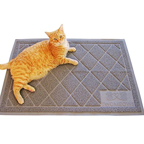 Two Meows Litter Mat Extra Large Gray Hardware