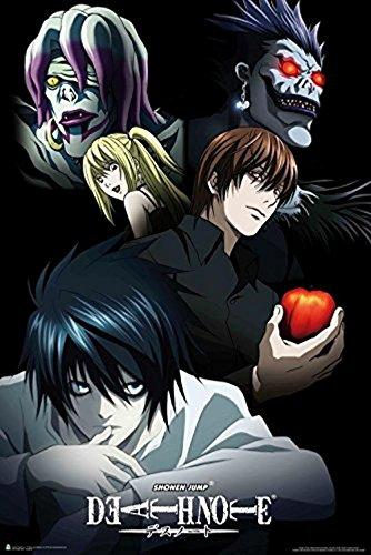 Buyartforless Shonen Jump Death Note Characters 36x24 Anime Art Print Poster Japanese Animated Series Show