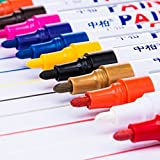 #6: Aobiny Mark Pen Paint Colors Marker Pen Fine Paint Oil Based Art Pen Metal Glass Waterproof