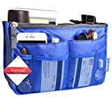 Vercord Purse Organizer Insert Handbag Organizer Nylon Bag in Bag 13 Pockets Sapphire Blue Medium