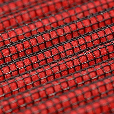 Replacement for Mercedes Benz AMG inches63 inches M157 Red Reusable & Washable High Flow Drop-in Air Filter: Automotive
