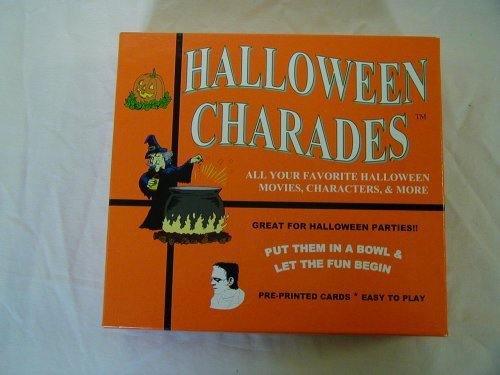 Movie Tv Show Halloween Costumes (Halloween Charades - the perfect Halloween Party Game - This Original Charades Game has characters like Count Dracula and more from your favorite Halloween Horror Movies and Halloween TV)