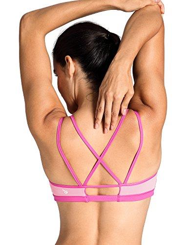 CRZ YOGA Donna Reggiseno Sportivo Yoga Imbottite Rimovibili Multicolore #6