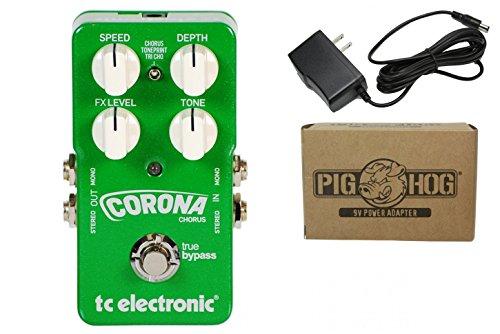 TC Electronic Corona Chorus Guitar Effects Pedal Bundle 960700001 (Tc Chorus Electronics)