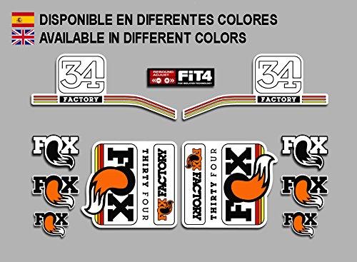 Ecoshirt 2A-SICN-1HE7 Pegatinas Fox Forks Factory 34 2016 Fdp23 Stickers Aufkleber Decals Autocollants Adesivi, Blanco