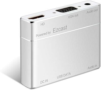 USB A HDMI y VGA Convertidor para iPhone iPad y Android Smartphones, boscheng USB a HDMI y VGA Full HD convertidor Adaptador para iOS Android Smartphones Tablets PC (Powered by Ezcast): Amazon.es: