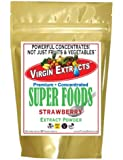 Virgin Extracts (TM) Pure Premium Organic Freeze Dried Strawberry Extract Powder 4:1 Concentrate SuperFood (4 x Stronger) 16oz Pouch