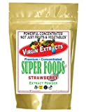 Virgin Extracts (TM) Pure Premium Organic Freeze Dried Strawberry Powder Extract 25:1 Concentrate SuperFood (25 x Stronger) 8oz Pouch (227 Grams)
