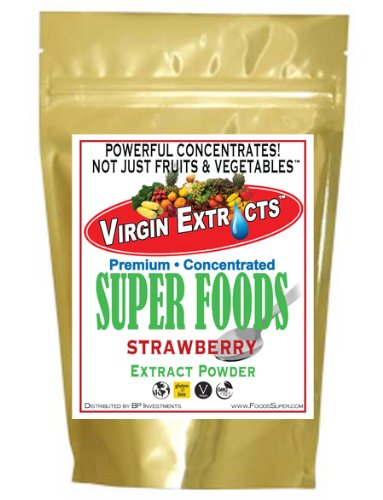 Virgin Extracts (TM) Pure Premium Organic Freeze Dried Strawberry Powder Extract 25:1 Concentrate SuperFood (25 x Stronger) 8oz Pouch (227 Grams) by Virgin Extracts (Image #4)