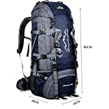 ONEPACL 80L Outdoor Hiking Trekking Camping Backpack Waterproof Internal Frame Mountaineering Backpacking Climbing Travel Bag with Rain Cover