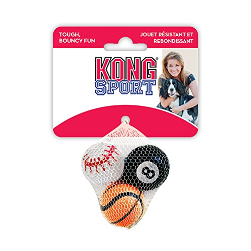 KONG Sport Balls 3-Pack Dog Toy, X-Small, Assorted