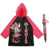 Disney Little Girls  Slicker and Umbrella Rainwear Set,Pink Minnie Mouse,Age 6-7