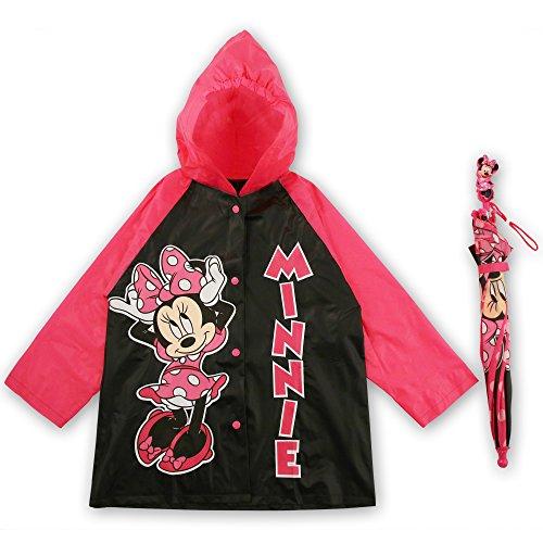 Price comparison product image Disney Little Girls  Slicker and Umbrella Rainwear Set,Pink Minnie Mouse,Age 4-5