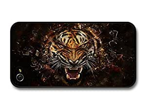 iphone covers AMAF ? Accessories Angry Tiger Breaking Glass Illustration case for Iphone 6 plus